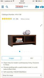 50% and higher furniture reductions starting at £20 @ Tesco Direct