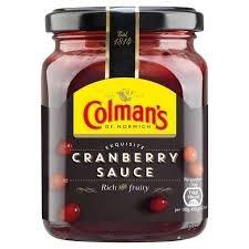 Colmans cranberry sauce 10p at farmfoods