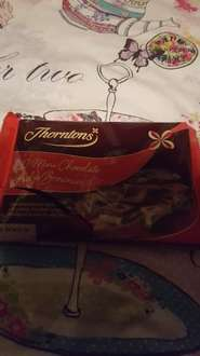 thorntons  mini chocolate fudge brownies...   at herons food only 59p