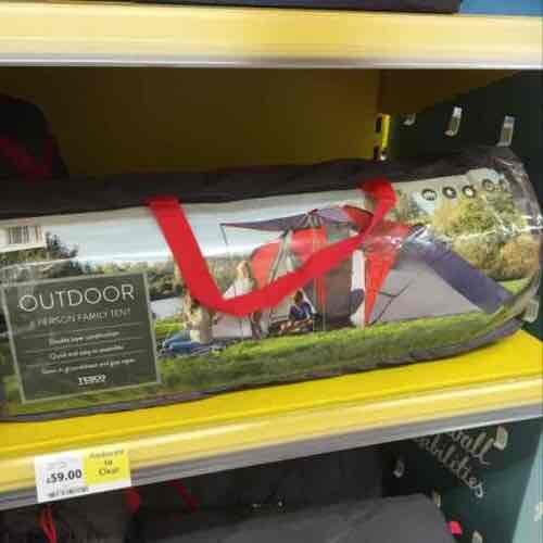 Tesco 6 man Family tent was £150 now £59