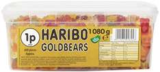 haribo gold bears tubs over 1kg £7.37 at amazon- 1.23p/sweet (add on item / £20 spend)