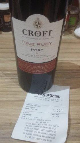 Croft fine Ruby Port £6.99 at Roys