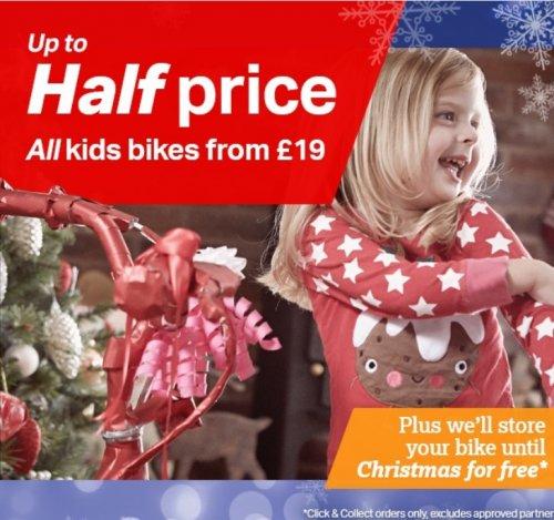 Halfords - Kids bikes up to half price