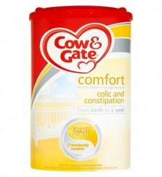 Cow & Gate Comfort and other milks still at old price £10.40 @ boots