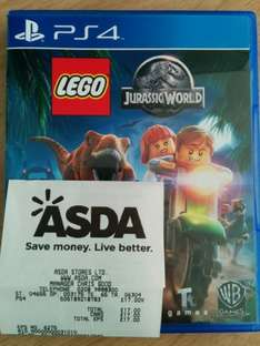 Lego Jurassic World PS4 (£17.00) Asda Leyton