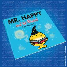 Get Mr Happy and the wizard Mr Men book rrp £2.99 now £1 via O2 priority @WHSmith