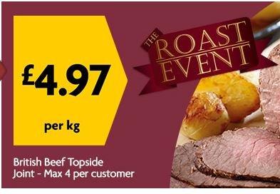 Beef Topside Joint (British) £4.97kg - MORRISONS