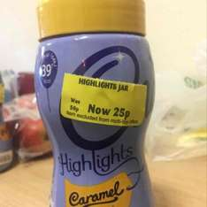 Cadburys Highlights Caramel Flavour 220g Jar 0.25p @ Morrisons