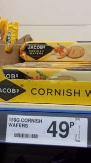 Jacobs Cornish Wafers 150G - 49p @ Farmfoods