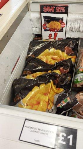 Premier British Maris piper chunky chips 1.5kg - £1 @ Fulton foods
