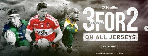 O'Neills Sports 3-2 Deal @ O'neill irish international sports (£4 del)