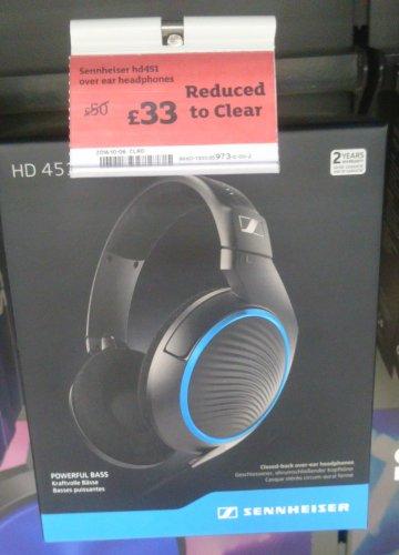 Sennheiser HD 451 Over Ear Headphones RTC from £50.00 to £33.00 @ Sainsbury's Livingstone