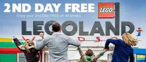 legoland holidays 1+1 days free, plus kids go free, 1 night hotel,  £171