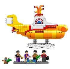 Pre-Order The Beatles Lego Yellow Submarine + £2 TY Olaf Beanie toy +  FREE £5 Amazon Gift card £51.99 @ VoucherCodes/The Entertainer