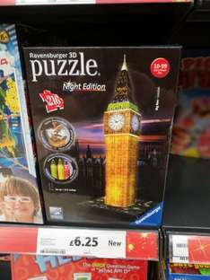 Ravensburger 3D Big Ben Night Edition £6.25 @ Tesco Instore Only