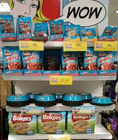 Buy 2 packs of BAKERS Dog food 2.7kg and Receive Free bowl £8.78 @ home Bargains