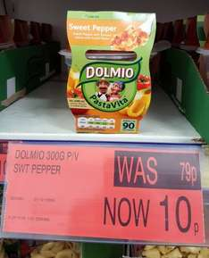 Dolmio Sweet Pepper PastaVita Snack Meal 300g Was 79p now only 10p in B&M Bargains
