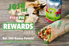 Join Pita Pit rewards & get enough points for free pitta straightaway