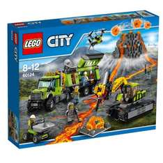 LEGO 60124 City In/Out Volcano Exploration Base Construction Set, £44.99 at Smyths delivered or Amazon with wait