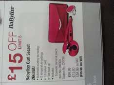 babyliss curl secret with pouch and cosmetic mirror in hot pink at Costco for £65.98