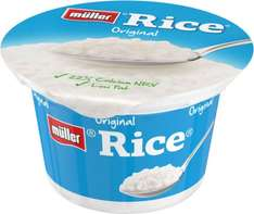 Müller® Rice® Original / Apple / Strawberry / Toffee Fat free Yogurt 180g was 68p now 3 Pots mix and match for £1.00 @ Iceland