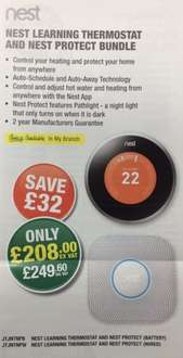 Nest Learning Thermostat & Nest Protect Bundle £249.60 @ Grahams Plumbing instore