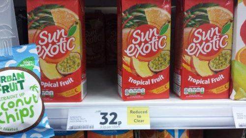 Sun exotic tropical fruit juice 1 litre - was £1.29 now 32p @ Tesco express  (Leeds)