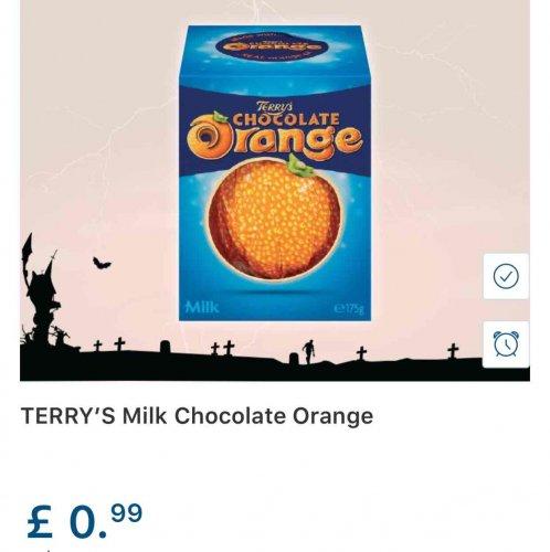 Terry's Chocolate Orange at Lidl 99p!!