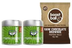 Buy 2 Tins of Mighty Matcha (2 x 30g) and get FREE pack of Protein Ball Treats from Boost Ball (42g) + 20% discount using code + Free delivery