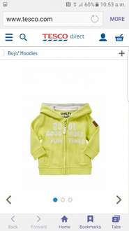 F&F Good Vibes Embroidery Zip-Through Hoodie for £1.50