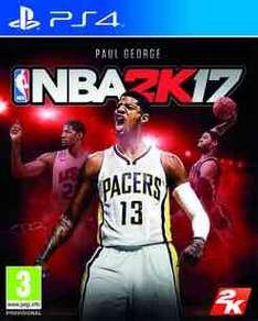 NBA 2k17 ps4/xbox one 34.99 new/ 32.99 preowned @ GAME