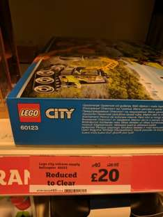 Lego City set 60123 reduced to £20 in store Sainsbury's