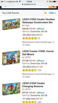Lego creator deli shop at Amazon for £17.99 Prime / £22.74 non prime @ Amazon