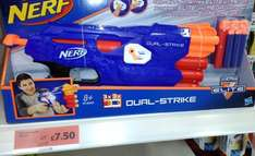 Nerf Dual-Strike Blaster £7.50 (Was £25) at Sainsbury's stores