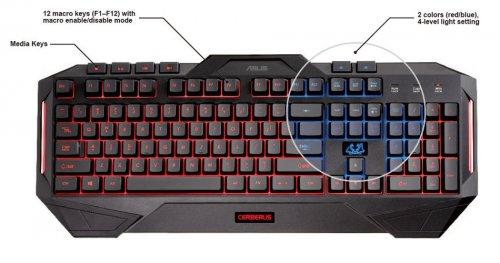 ASUS CERBERUS Wired USB Membrane Keyboard £32.99 @ Yoyotech -  WESTFIELD SHEPERDS BUSH
