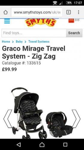 Graco Mirage Travel System - Zig Zag - Travel Systems UK