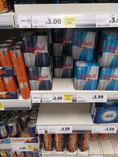 Red Bull zero calories Reduced to clear 2.00 for 4x250 Ml @ Tesco