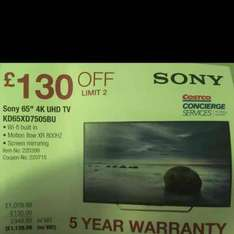 "Sony 65"" KD65XD7505BU Smart TV - Costco £1139.98"