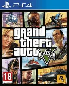 Grand Theft Auto V on PS4 with GTA Online $3,500,000 Whale Shark Card From £81.99 to £29.99