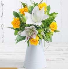 Buttercup Bouquet £14.99 delivered - normally £39.99. £15 off plus extra 40% discount with code SAVE40 and free courier delivery