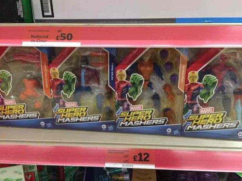 Marvel Super Hero Mashers pack of 4 Sainsbury was £40 now £12