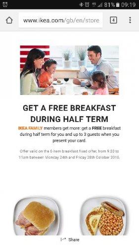 free ikea breakfast ends today 11am