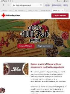 free rare spice pack and option to donate to a good cause w/ Red Cross