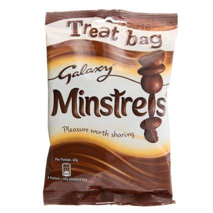 Galaxy Minstrels 105g Treat Bag was 79p now 50p @ B&M