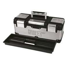 "Forge Steel 26"" Stainless Steel Tool Box  £13.99 Click & Collect Screwfix"