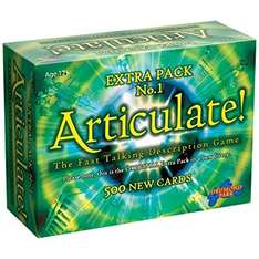Articulate Extra Pack 1 - Board Game Supplementary Cards - Lowest it has been on Amazon £12.75 (Prime or add £4.75)