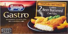 Young's Gastro Tempura Beer Battered Cod Fillets (2 per pack - 270g) ONLY £2.00 @ Asda