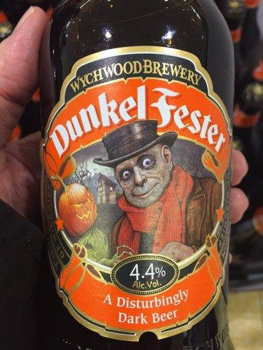 Dunkel Fester wychwood dark beer reduced to 99p at Aldi