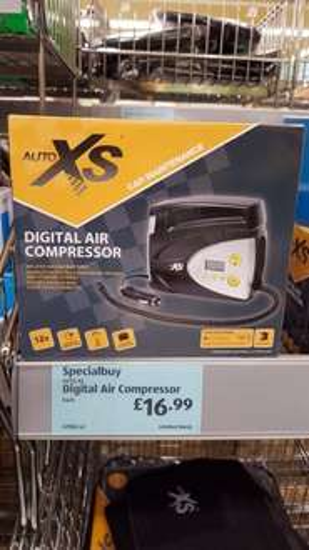 Digital Air Compressor £16.99 in store ALDI Reading