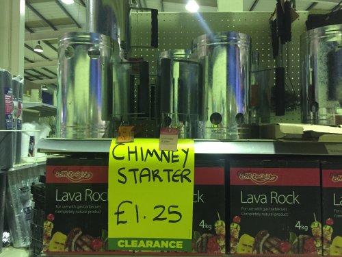 BBQ chimney starter ready for next year reduces £1.25 @ Homebase Herne Bay